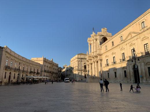 Italien, Sizilien, antike Stätte, Sehenswürdigkeit, Syrakus, Piazza Duomo, Kathedrale