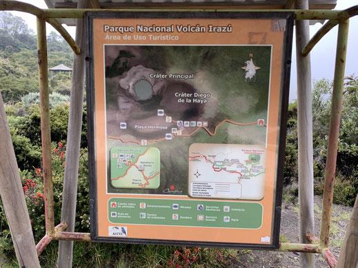 Lageplan am Eingang des Parks