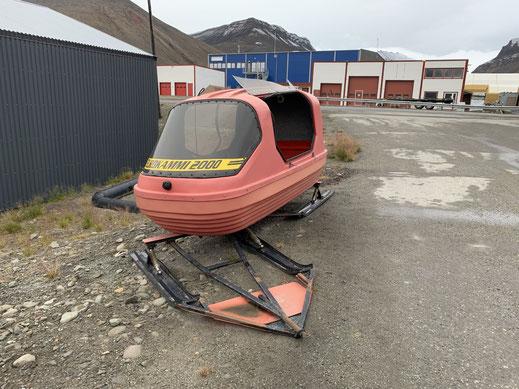 Spitzbergen, Svalbard, Longyearbyen, Schneemobil