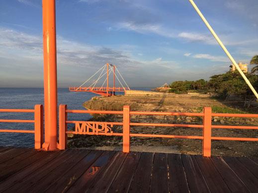 Dom Rep, Dominikanische Republik, Santo Domingo, Promenade, Malecon, Ufer, Sonnenaufgang