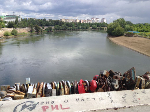 Transnistrien, Tiraspol, am Fluss Tyra
