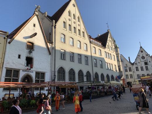 Estland, Tallinn, Reval, Altstadt, Denkmal, Peppersack, Restaurant