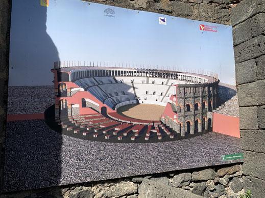 Italien, Sizilien, antike Stätte, Amphitheater, Chiesa di San Biagio, Catania, Sehenswürdigkeit