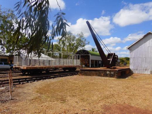 Australien, Pine Creek, Verladebahnhof, Waggon, Eisenbahn Museum