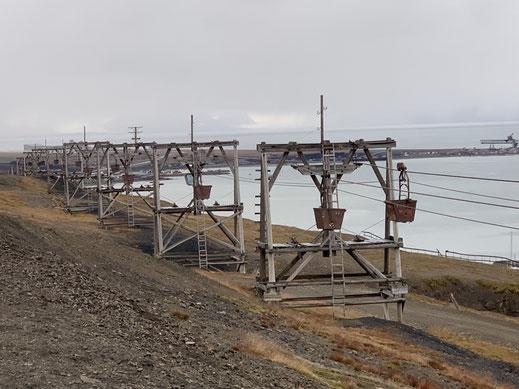 Spitzbergen, Svalbard, Islfjord, Longyearbyen, Denkmal,