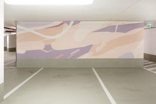 Farbgestaltung in der Tiefgarage des Gebäudes Bautenschutz Architektur und Farbe