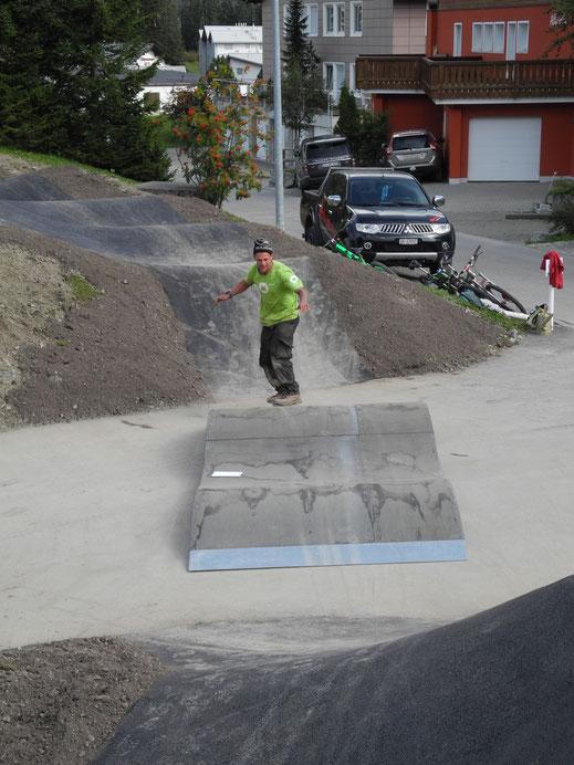 Auch mit dem Skateboard spassig!