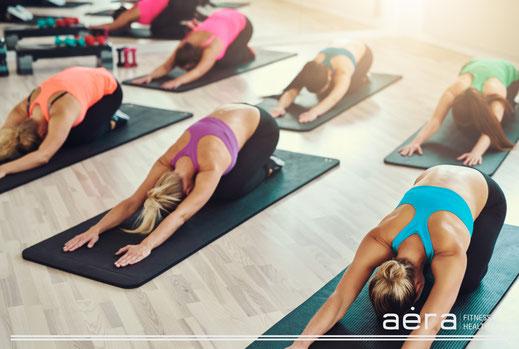 Gruppenkurse wie Yoga, Pilates, Zumba im Aera in Heidelberg