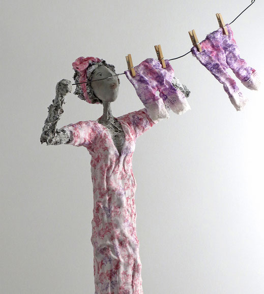 Florentine ihre Schlüpfer - Skulptur von der Künstlerin Claudia König