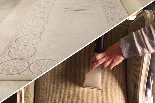 Foto limpieza de alfombras y tapices