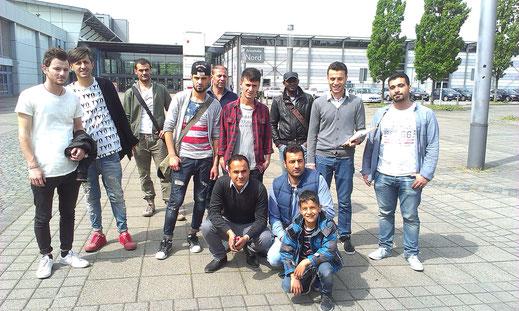 """die Drensteinfurter Flüchtlinge auf der """"jobmesse münsterland"""""""