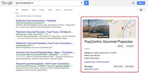 Google my Business Geschäftsgründung Google Maps