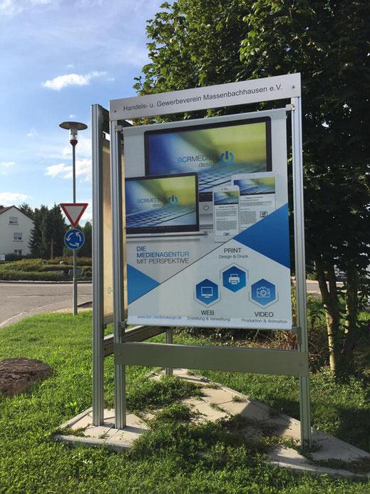 HGV Banner Massenbachhausen BCR Mediendesign Handels und Gewerbeverein
