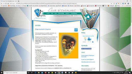 Ancienne interface datant de 2013 (site internet Horizon Vertical)