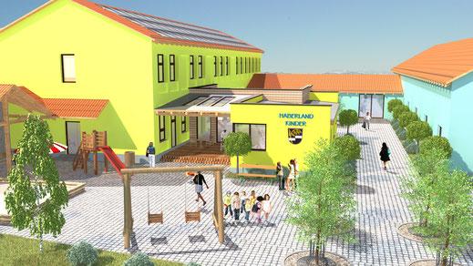 Architektur Anbau Kita Kindergarten Kinderkrippe Bestand Umbau