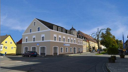 Visualisierung Entwurf Raiffeisenbank Pleystein Cinema 4D
