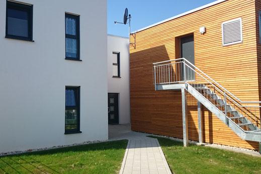 Natternberg Fischerdorf Architektur Flachdach Modern Holz