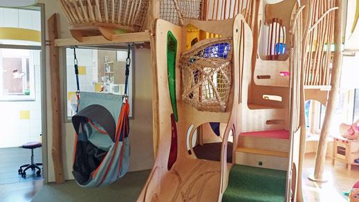 Architektur Anbau Kita Kindergarten Kinderkrippe Bestand Umbau Innen Spielturm