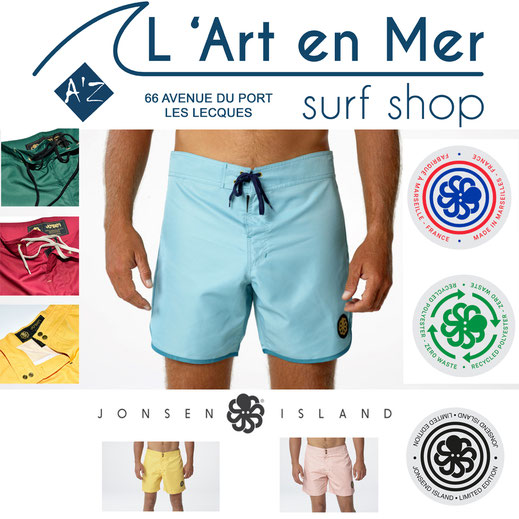 Boardshort Jonsen Island L'Art en Mer concept Store & Surf Shop Les Lecques