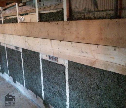 Innenwanddämmung, Hanf-Stampf-Lehm, LLS 400 Hanffaser, Unterkonstruktion