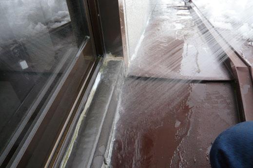 雨漏り再現散水調査の様子|大宮の雨漏り修理工事