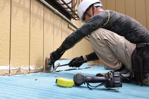 部分修理の様子|大宮の雨漏り修理工事