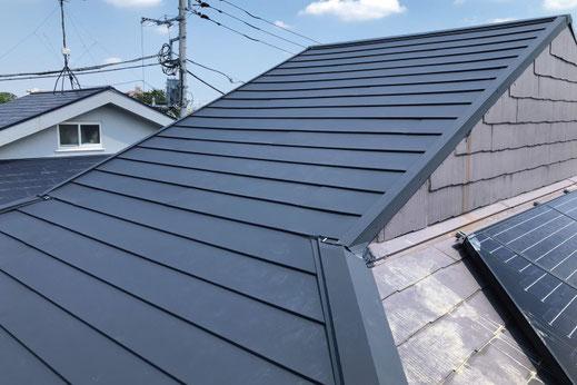 カバーリング工法で施工した屋根|大宮の雨漏り修理工事