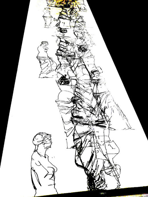 Venus von Milo, Codierung der Zeichnungen durch Übereinander legen