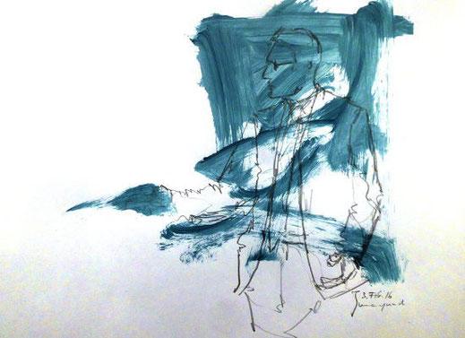 Zeichnung, Geste, Landräte