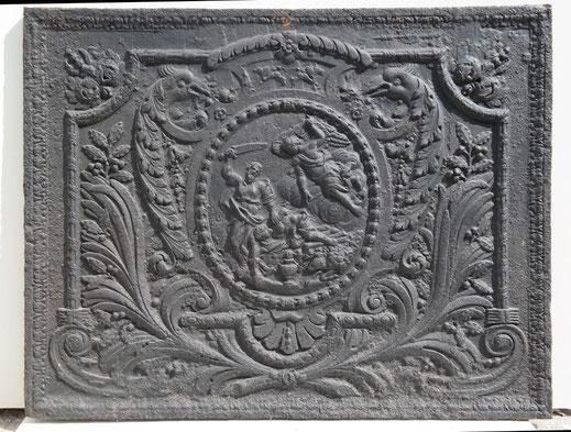 Bild: Eine perfekt erhaltene Kaminplatte: Abraham opfert Isaak
