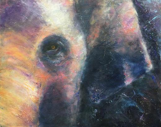 Pink Elephant (Big Five No. 2)| Acryl | 80 x 100 cm