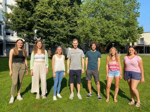 Im Team sind (v.l.) Julie, Milena, Andrea, Jan, Jakob, Miriam und Pia.