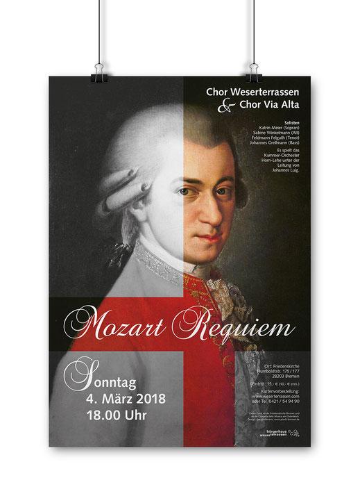 Deutscher Agenturpreis 2018 für das Plakat zum Konzert des Chor Weserterrassen