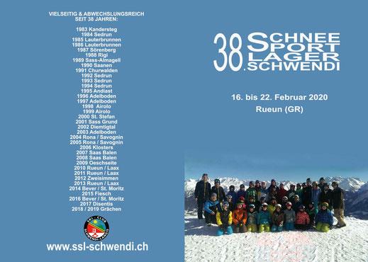 Einladung 38. Schneesportlager Schwendi (Aussenseite)
