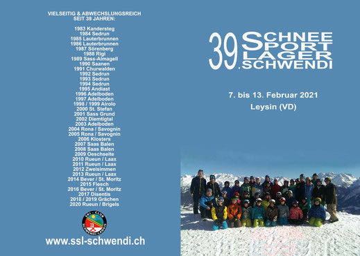 Einladung 39. Schneesportlager Schwendi (Aussenseite)
