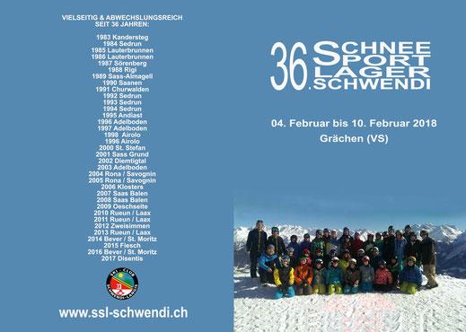 Einladung 36. Schneesportlager Schwendi (Aussenseite)