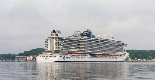 Abfahrt der MSC Seaview ab Kiel