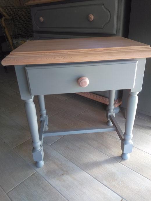 relooking chambre meuble commode chevet lit gris bois camaelle le mans sarthe