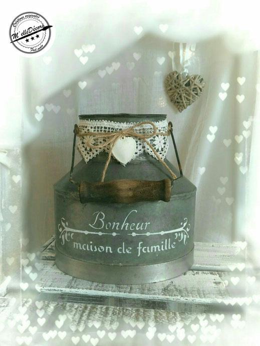 Pot à lait location decoration mariage vintage champetre le mans sarthe m'elledecors