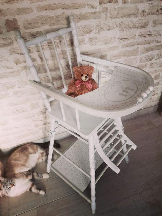 relooking chaise haute bébé le mans sarthe