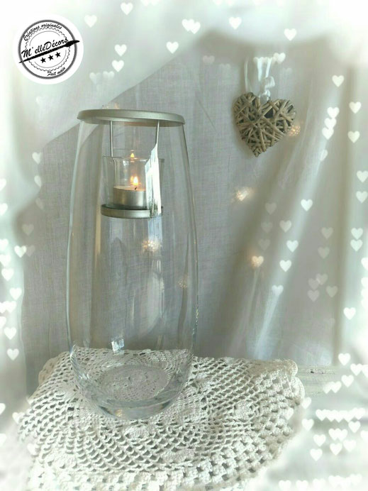 Photophore bougeoir à décorer location decoration mariage vintage champetre le mans sarthe m'elledecors