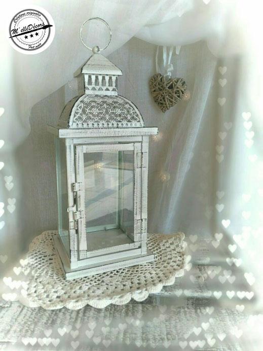 Lanterne blanche à décorer: location decoration mariage vintage champetre le mans sarthe m'elledecors