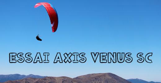 Test parapente Axis Venus sc