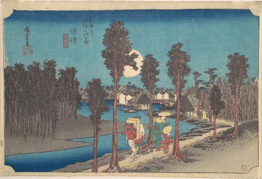 Utagawa Hiroshige (1797–1858): Numazu Ki Kure, Woodblock print, ca. 1834. (Metropolitan Museum)