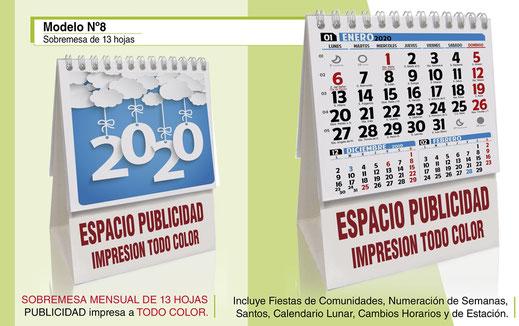 Mini Calendario 2020 Para Imprimir Chile.Calendarios Publicitarios 2020 Calendarios Publicitarios