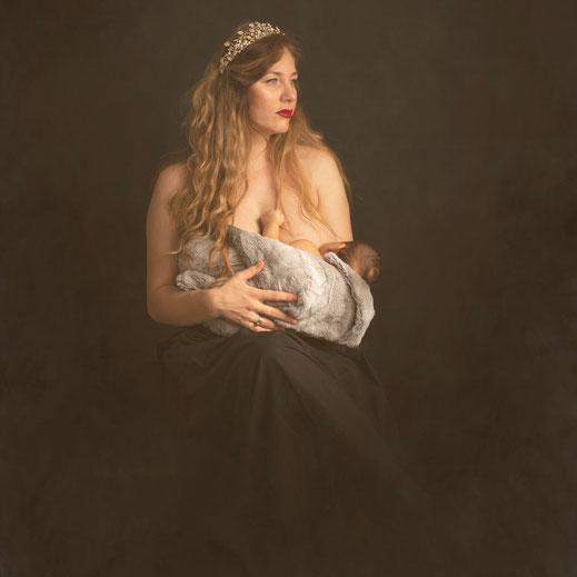 moeder met newborn