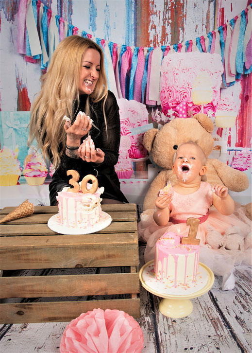 moeder dochter cake