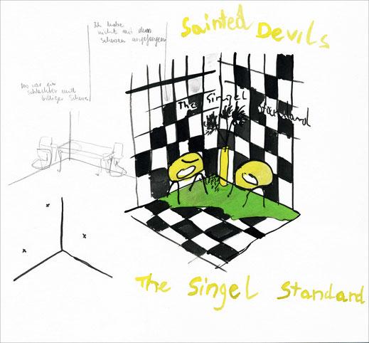 The Singel Standard, 2002, Aquarell und Bleistift auf Papier, 34 x 29,7 cm