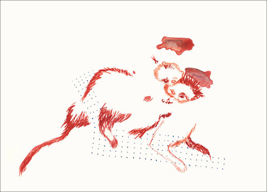 Many Fatamorgana, 2010, Aquarell und Buntstift auf Papier, 59,4 x 42 cm