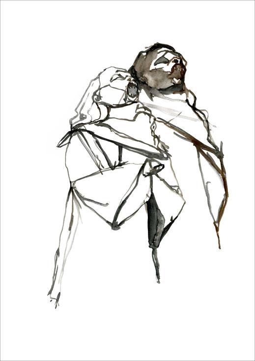 Dracula Twins, 2009, Aquarell auf Papier, 29,7 x 42 cm